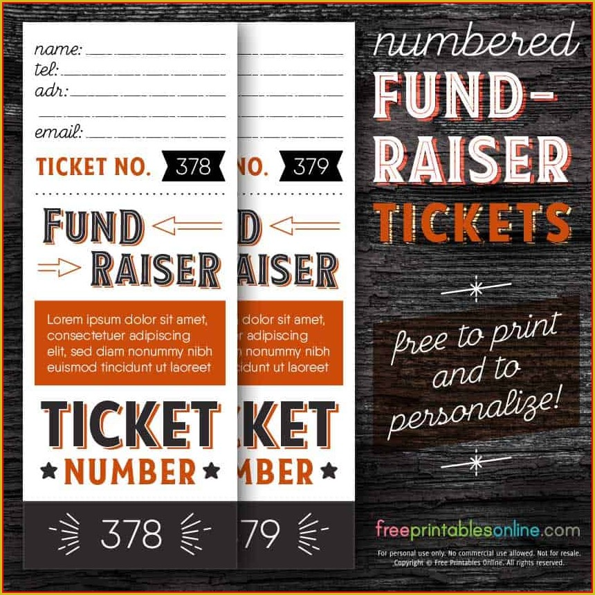 Fundraising Ticket Template