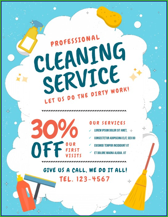 Home Cleaning Flyers Templates