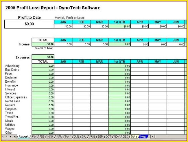 Monthly Income And Expense Report Template