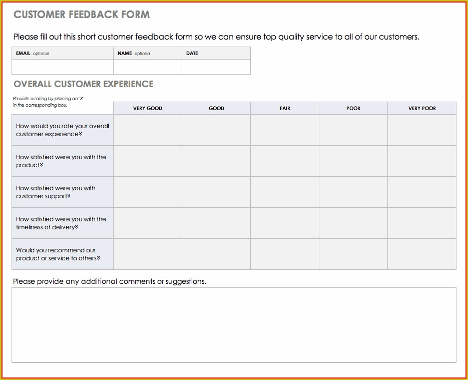 Onboarding Feedback Form Template