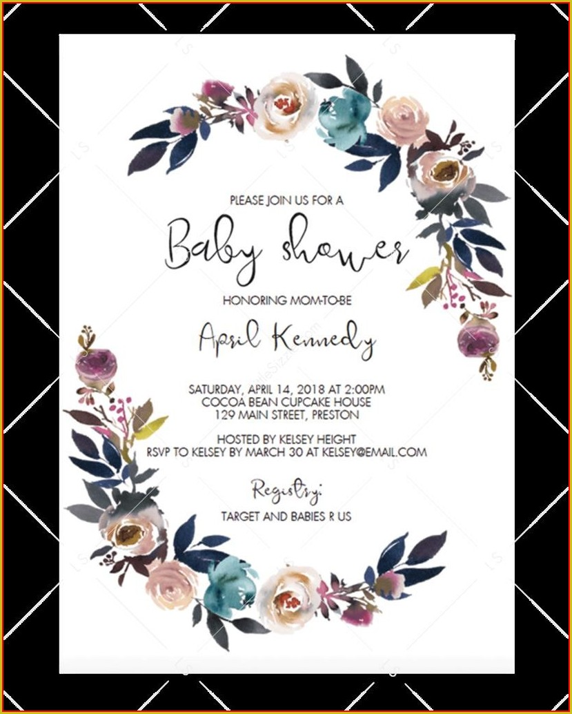 Printable Free Editable Baby Shower Invitation Templates