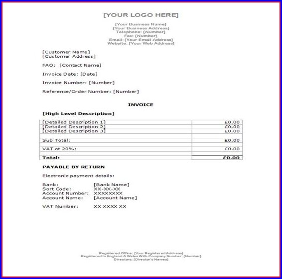 Recruitment Invoice Template Uk