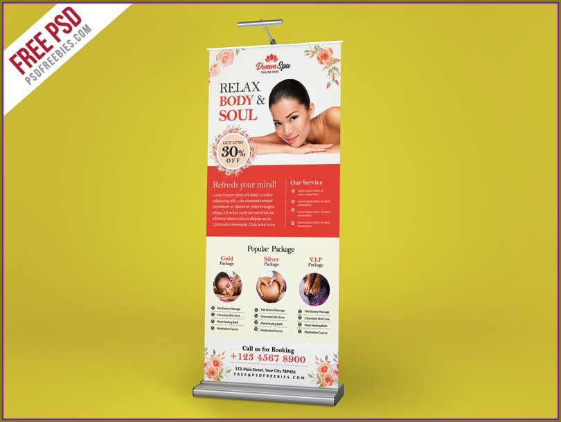 Roller Banner Template Psd Free