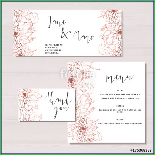 Rose Gold Invitation Templates Free Download