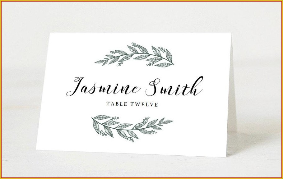 Seating Name Cards Template