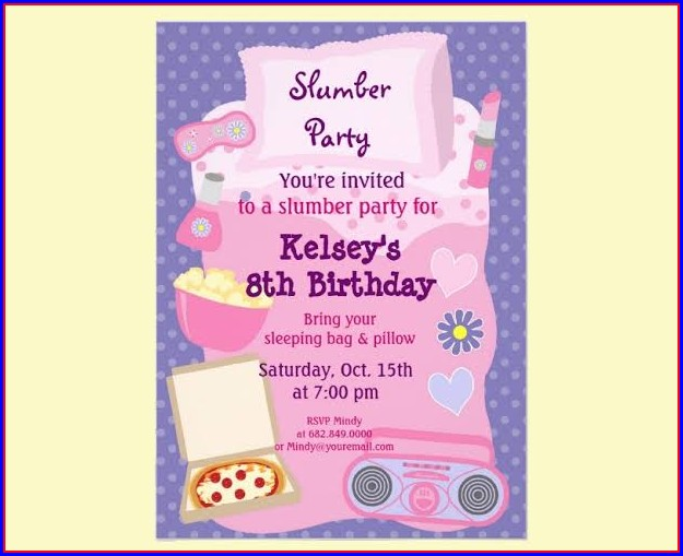 Sleepover Invitation Template Word