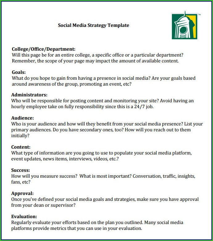 Social Media Proposal Template Free Download