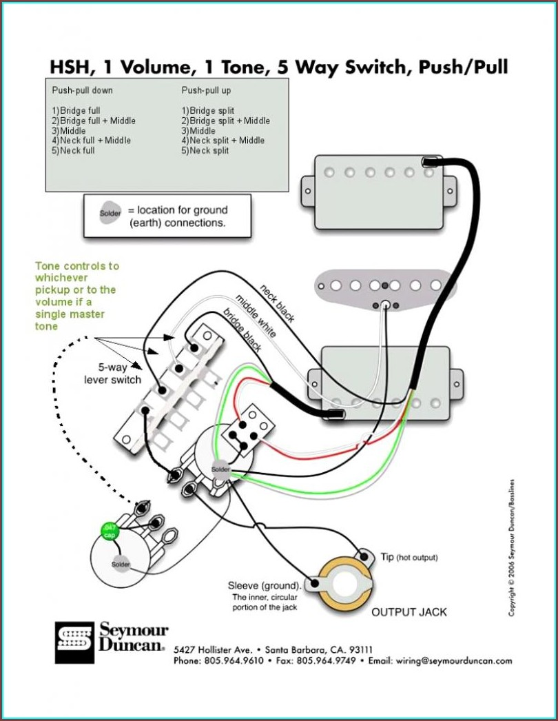 Strat Wiring Diagram 1 Volume 1 Tone