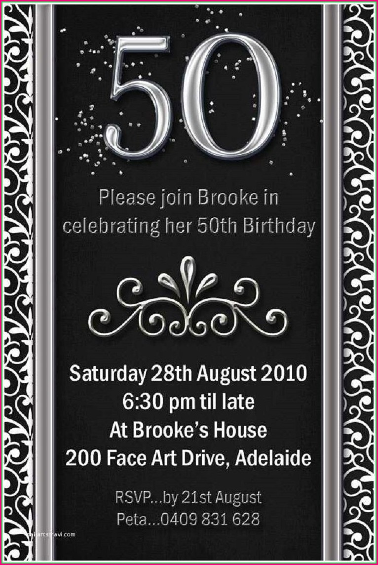 50th Birthday Invitations For Him Templates