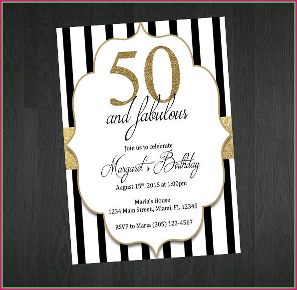 50th Birthday Invitations Templates Free Download