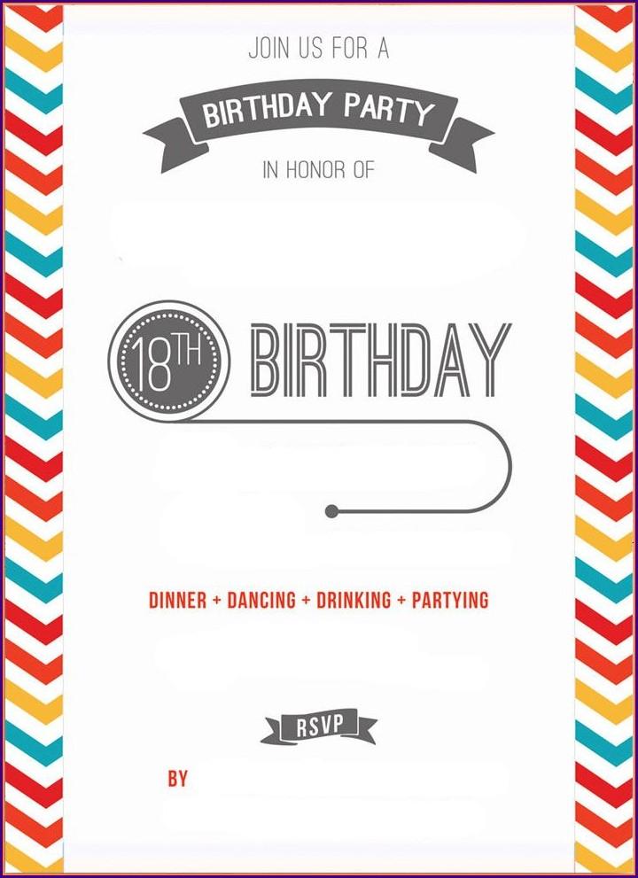 Birthday Party Invites Templates Free Printables