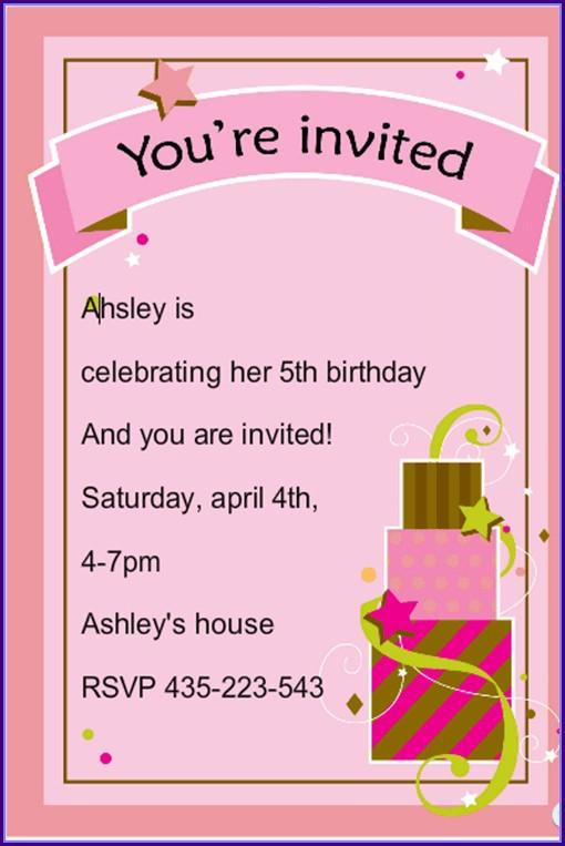 Birthdayinvitation