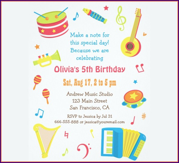 Children's Birthday Party Invites Templates Free