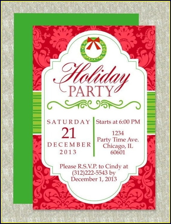 Christmas Party Microsoft Word Invitation Template Holidays 23