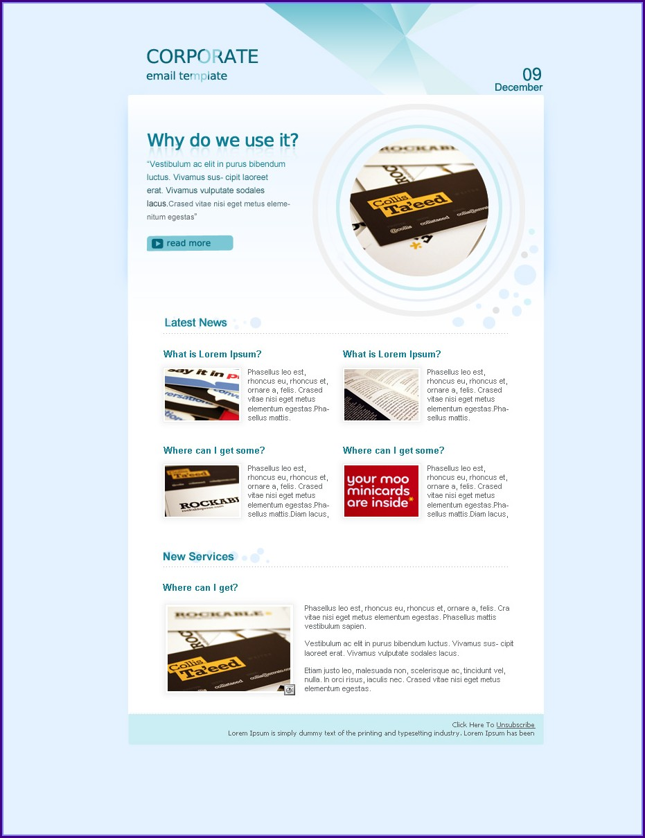 Corporate E Newsletter Templates