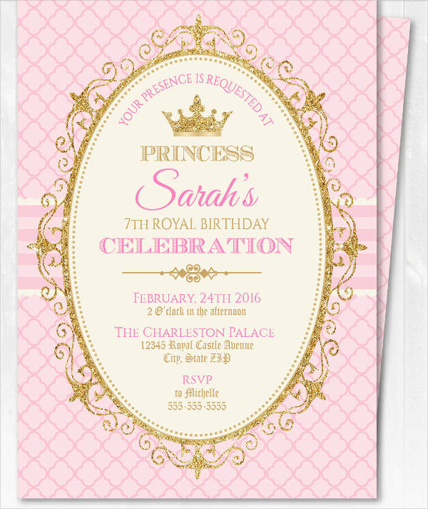 Crown Invitation Blank Barbie Invitation Template