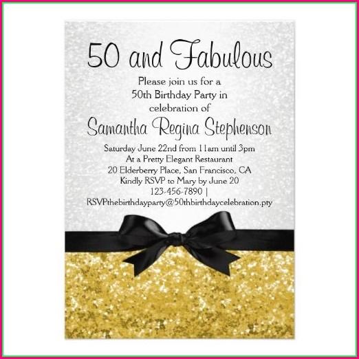 Editable 50th Birthday Invitations Templates Free