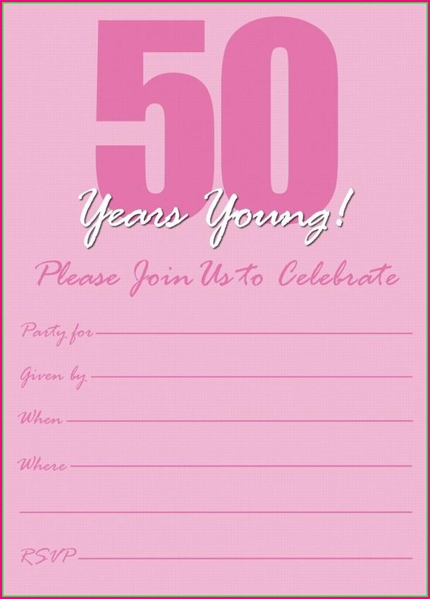 Editable 50th Birthday Invitations Templates
