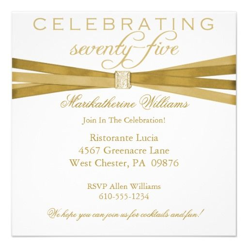 Editable 75th Birthday Invitation Templates Free