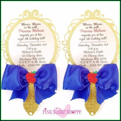 Elegant Snow White Invitation Template