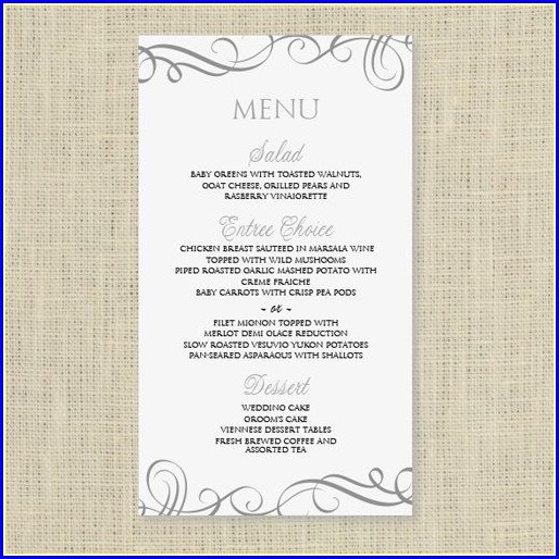 Free Menu Template Download Word