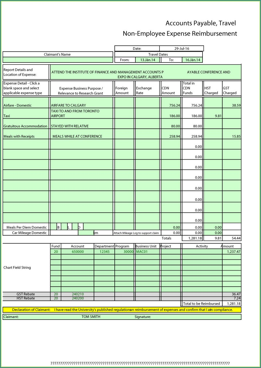 Free Monthly Expense Report Template Excel