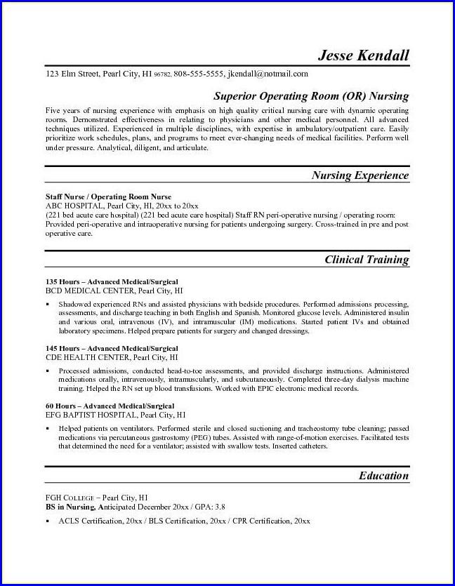 Free Nursing Resume Template Australia