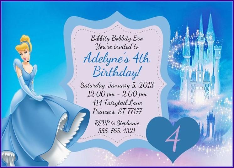 Free Printable Cinderella Birthday Invitation Template