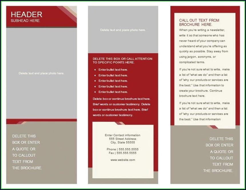 Free Tri Fold Brochure Template Google Docs
