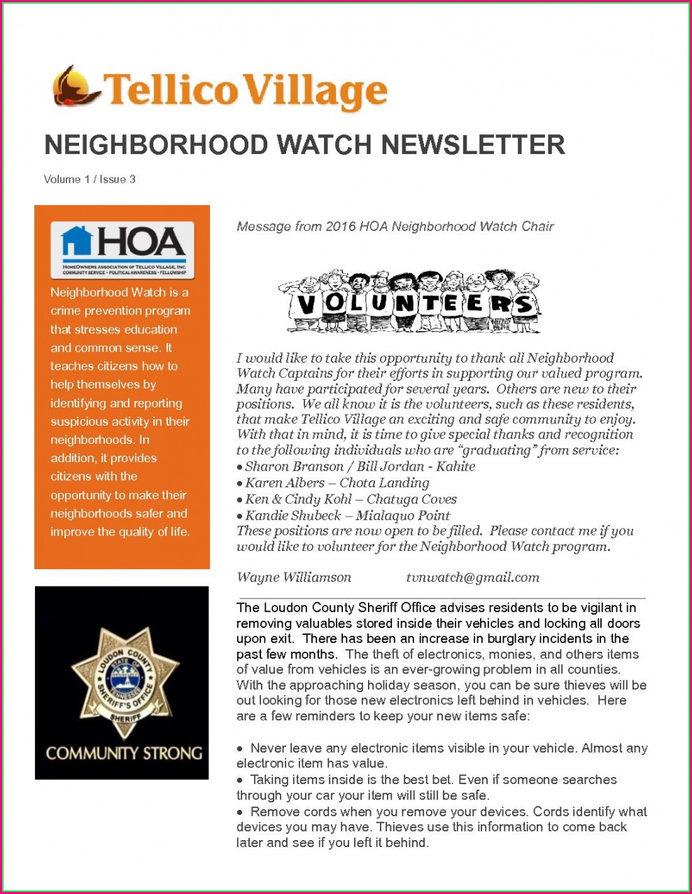 Homeowners Association Neighborhood Newsletter Templates