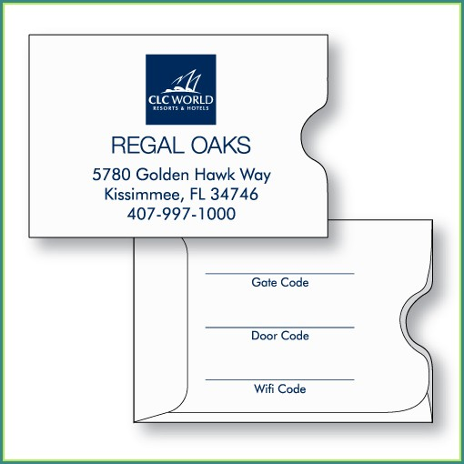 Hotel Key Card Envelope Template