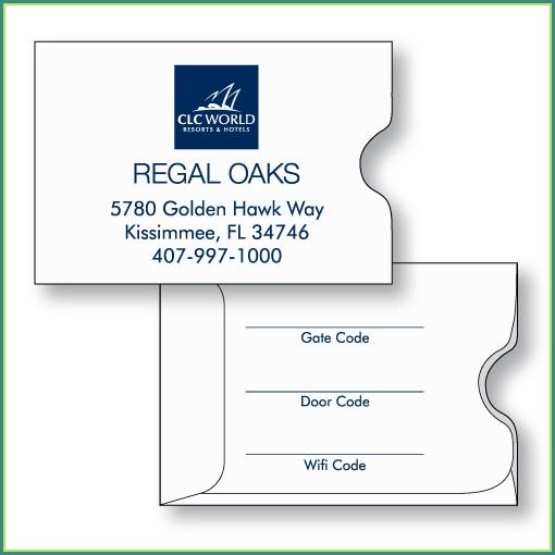 Hotel Key Card Envelope Template