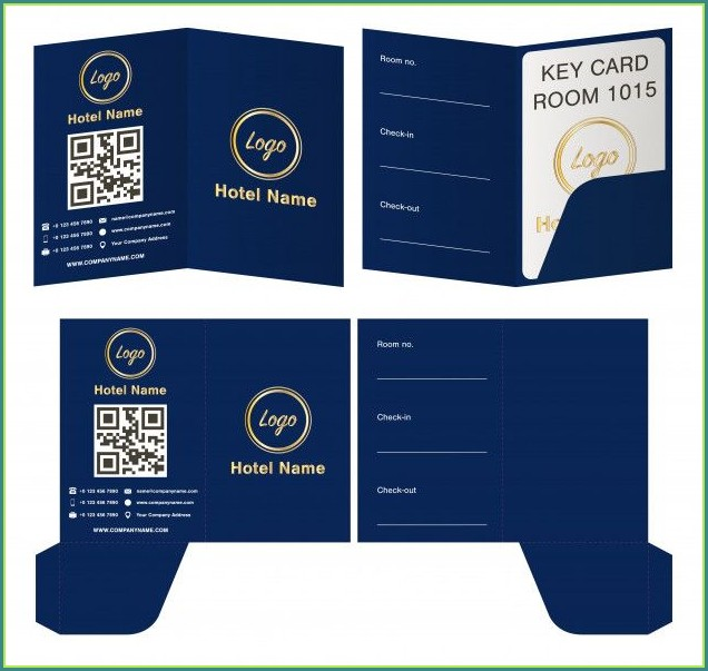 Hotel Key Card Template