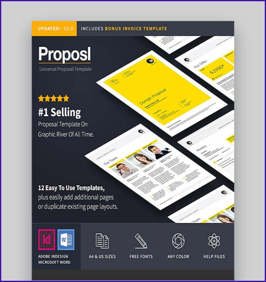 Indesign Business Proposal Template Free Download