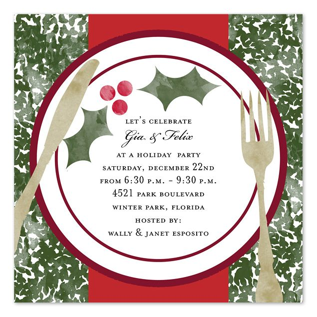 Invitation To Christmas Dinner Template