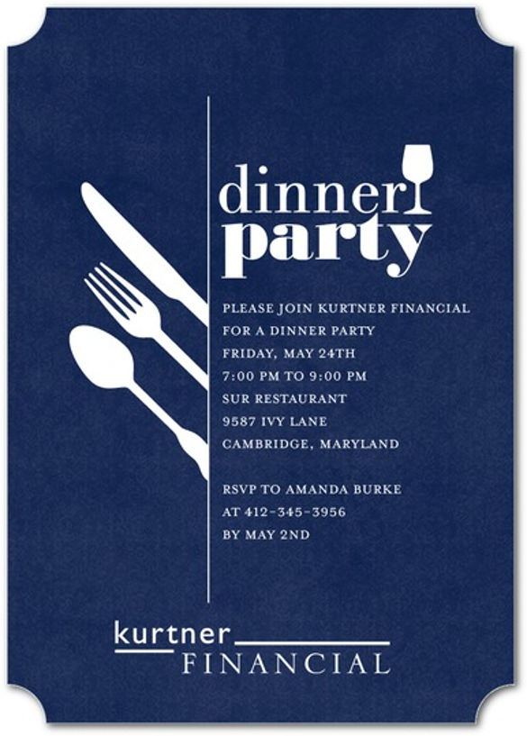 Invitation To Dinner Template