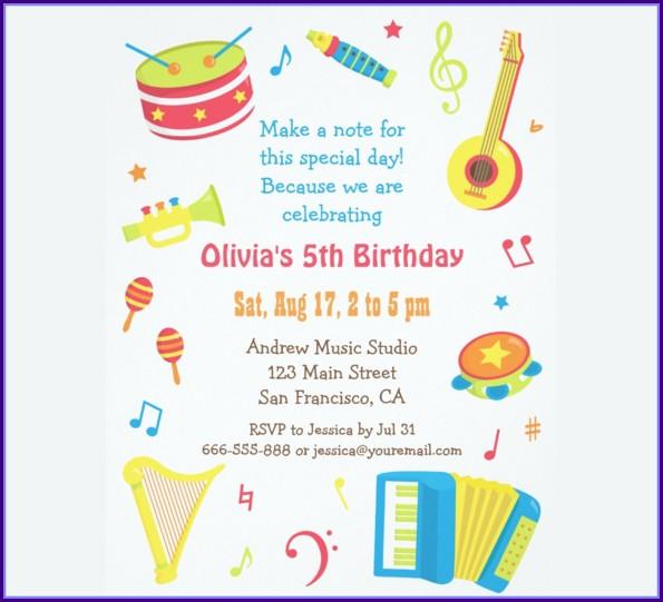 Kids Birthday Party Invitation Template