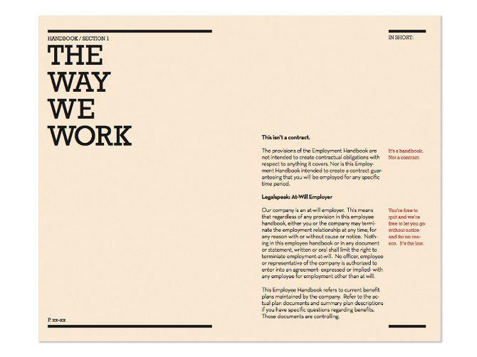 Layout Employee Handbook Template