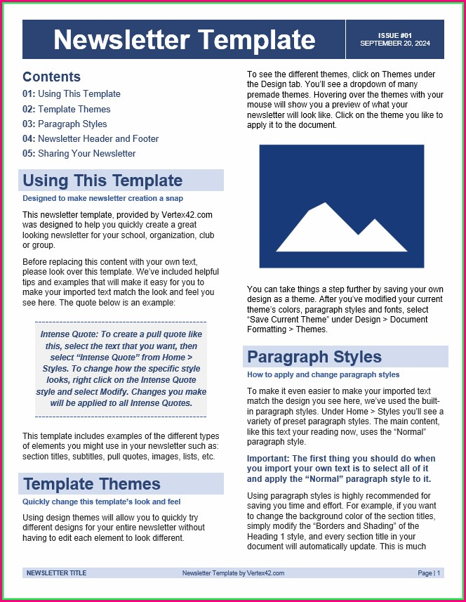 Neighborhood Newsletter Templates