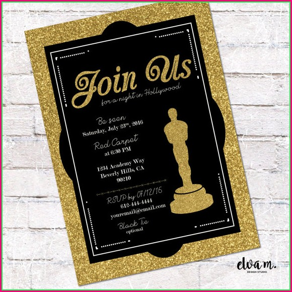 Oscar Invitation Template Free Download