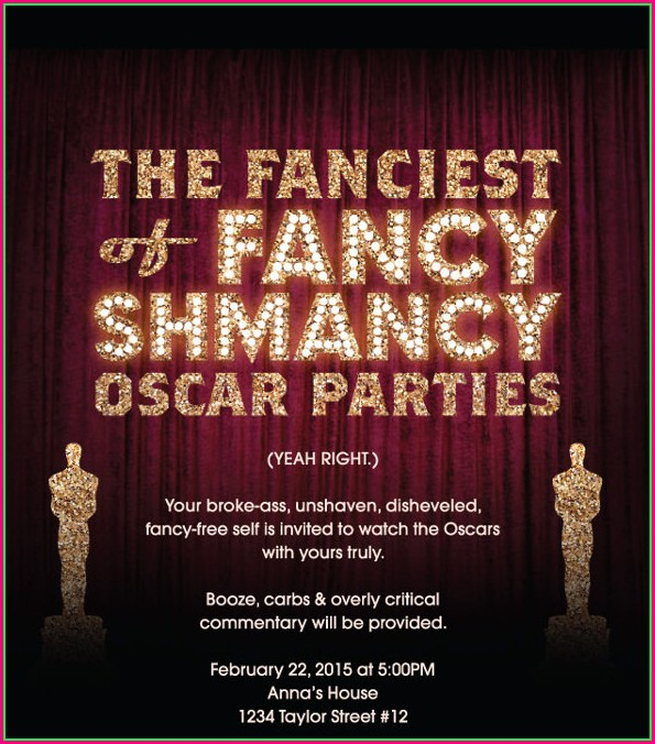 Oscar Party Invitation Template