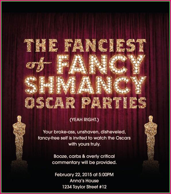 Oscar Party Invitation Template