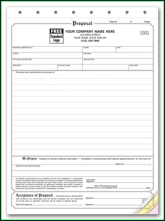 Printable Hvac Estimate Template