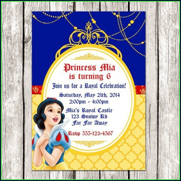 Printable Snow White Invitation Template