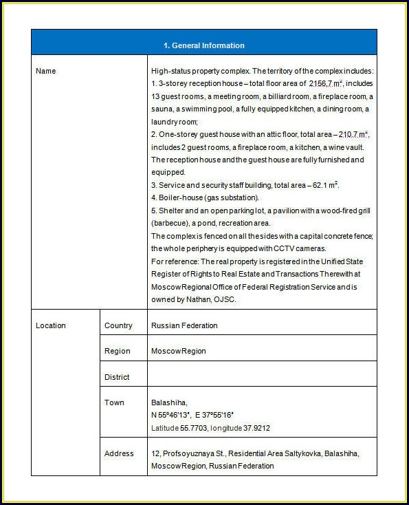 Real Estate Investment Proposal Template