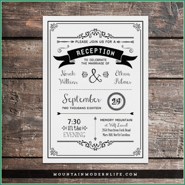 Reception Only Invitation Templates