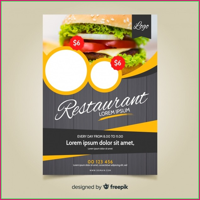 Restaurant Flyer Design Templates Free Download