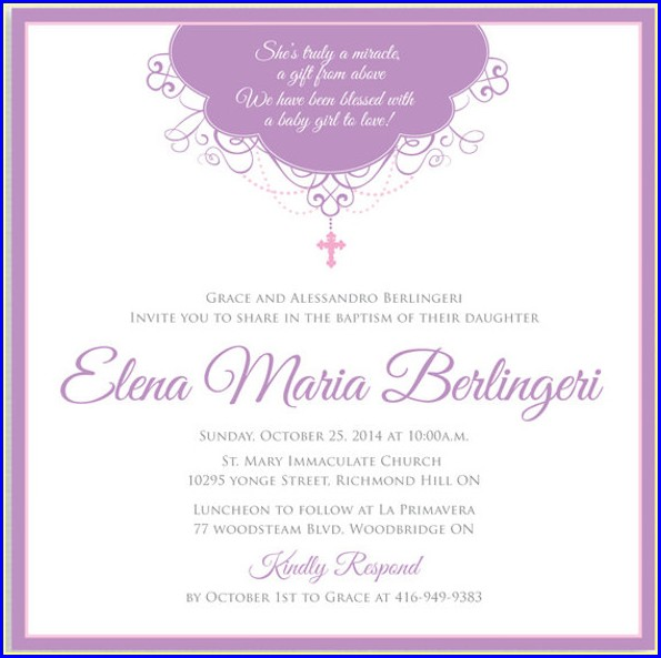 Template Free Printable Printable Baptism Invitation Card