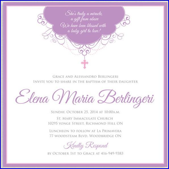 Template Free Printable Printable Baptism Invitation Card