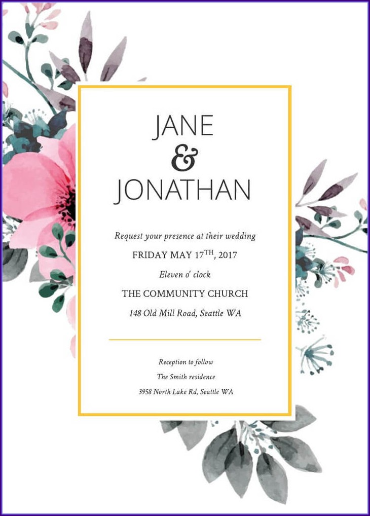 Templates For Invitation Cards Free